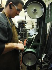 Phil Rose at grinder