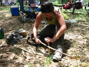 Bow Drill Fire Making 1
