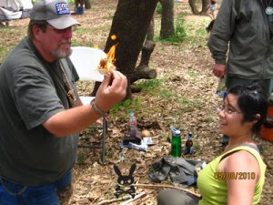 Bow Drill Fire Making 3